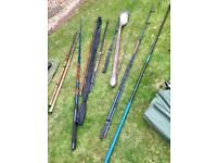 Fantastic selection of fishing rods. Lake, sea and fly