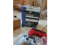 NEW LATEST PS4 PRO WHITE BOXED 2 CONTROLLERS + GAMES