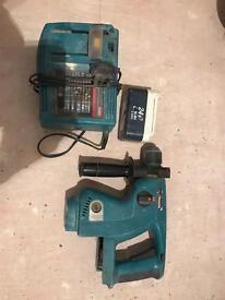 Makita 24 V SDS hammer drill