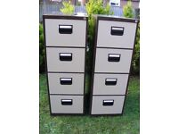 CAN DELIVER - PAIR OF FILLING CABINETS WITH WORKING KEYS IN VERY GOOD CONDITION