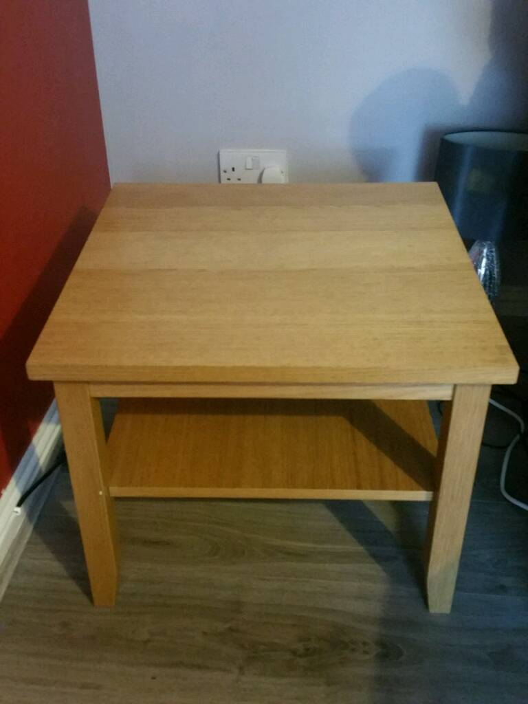 Oak Side Coffee Table Ikea Skoghall