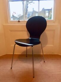 Keeler style black dining chairs x 4