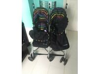 mother care double buggy with cosy toes