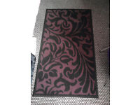 purple/black 3 different size rugs for sale
