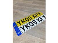 NUMBER PLATES/CAR NUMBER PLATES/LICENSE PLATES/£22 A SET MOT LEGAL