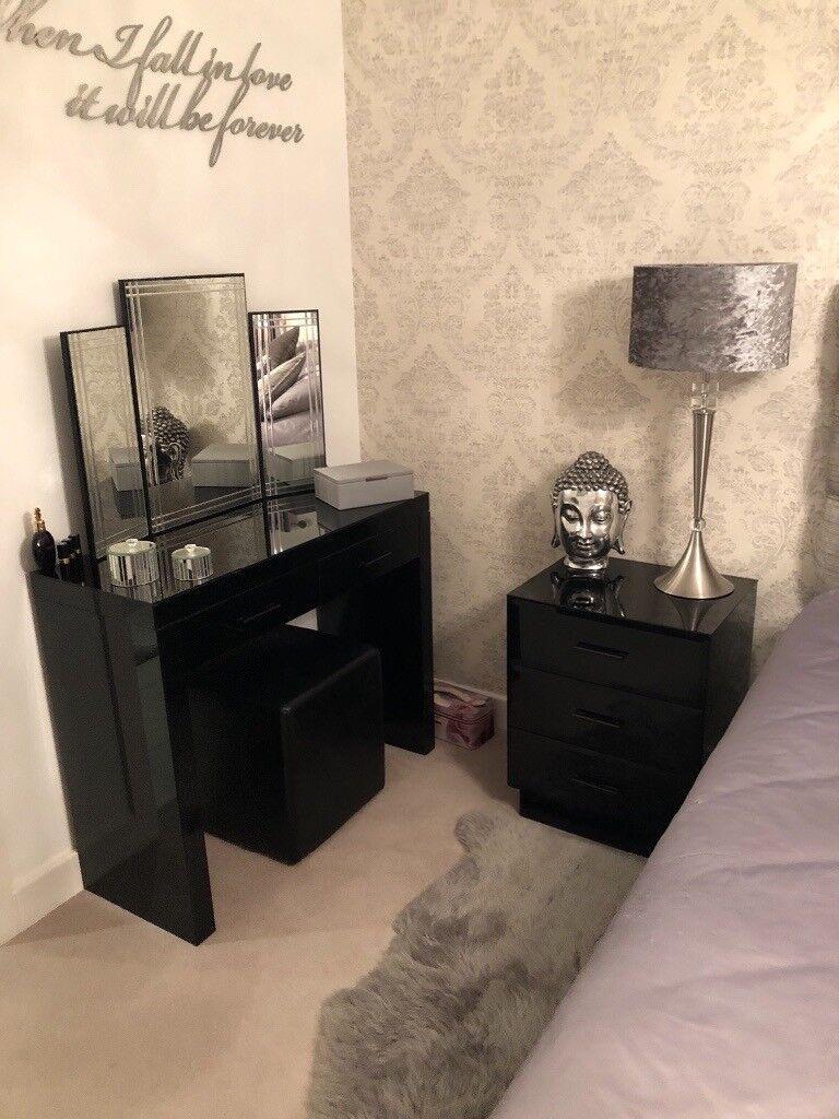 Black Gloss Bedroom Furniture set | in Newark, Nottinghamshire | Gumtree