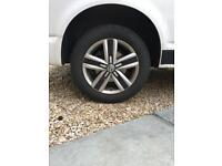 Devonport Vw T6 alloy wheels and tyres 215 60 17