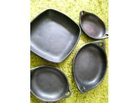 Stunning collection of black stoneware oven dishes