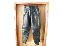 Ladies Leather Motorcycle Trousers. Size 14. Belstaff.