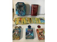 Genuine Pokemon job lot inc 3 decks and 2 tins