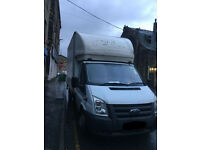 FORD TRANSIT T350 LUTON WITH TAIL LIFT, 57 PLATE