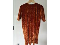 Misguided orange/rust colour top/dress. Size 10