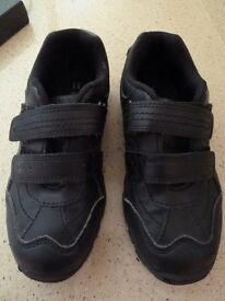 Sainsburys boys black school shoes size 11, Immaculate.