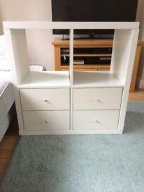 IKEA Kallax white storage unit - excellent condition £30