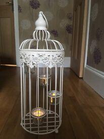Bird cage votive ornament X8