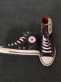 Kids Navy Converse hi-top trainers - size 2