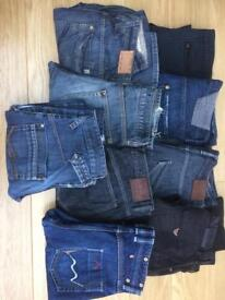 9 pairs of jeans