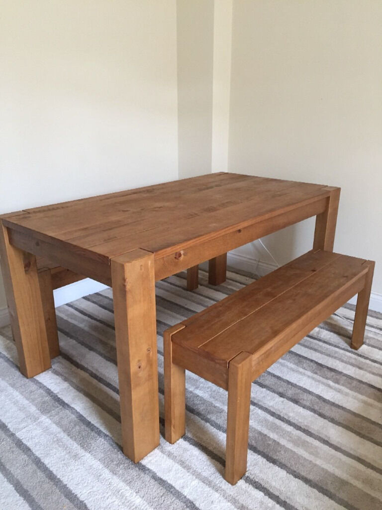Next Hartford Extending Dining Table And Bench In