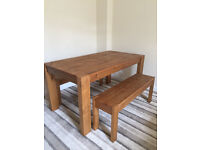 Next Hartford Extending Dining Table and Bench