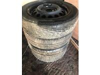 "4 x 14"" 4x100 steel wheels"
