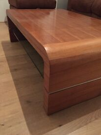 Brown wooden coffee table for sale