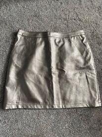 Metallic skirt size 12