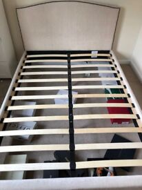 Cream double bed frame -£30
