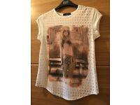Ladies motif Tshirt size 8