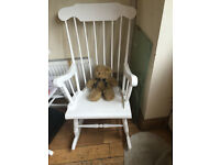 A SUPER SHABBY CHIC ROCKING CHAIR NO SCRATCHES OR MARKS READY FOR A NEW HOME