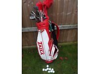 BARGAIN LOT GOLF CLUBS BAG BALLS