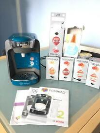 Tassimo coffee machine with coffee discs
