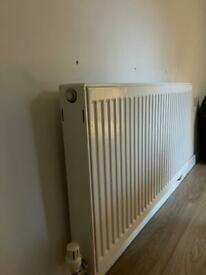 1100mmx600mm double radiator with valves