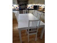 IKEA White Dinning Room Set