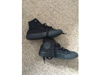 Black high top converse size 11