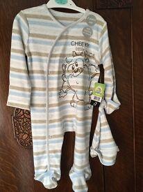 0-3 month Disney sleepsuit never worn label still on