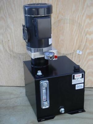New Monarch Bucher M-4505-0150 1 Hp 115230v 1500 Psi 1 Gpm Hydraulic Power Unit