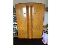 Antique Maple 1960s Bedroom Furniture Suite - Wardrobes, Dressing Table & Bed
