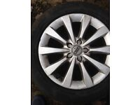Audi A6 2014 alloys with tyres a7 a4 c7
