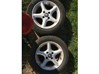 Set of 4 4x100 TSW alloys with tires