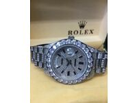 Rolex day date iced diamonds Audemars Piguet cartier daytona date submariner Patek Hublot santos AP