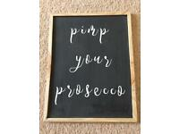 Pimp your prosecco sign