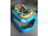 Chicco Baby Walker blue with keyboard
