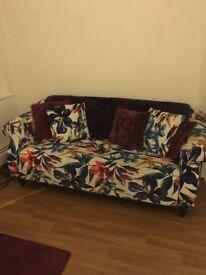 Flower pattern sofa