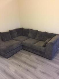 Large grey corner couch