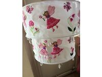 Fairy lampshade - cotton embroidered with beads hanging on bottom