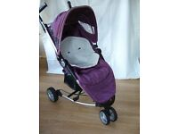 Petite Star Zia Pushchair (Purple Berry) with extras - good condition