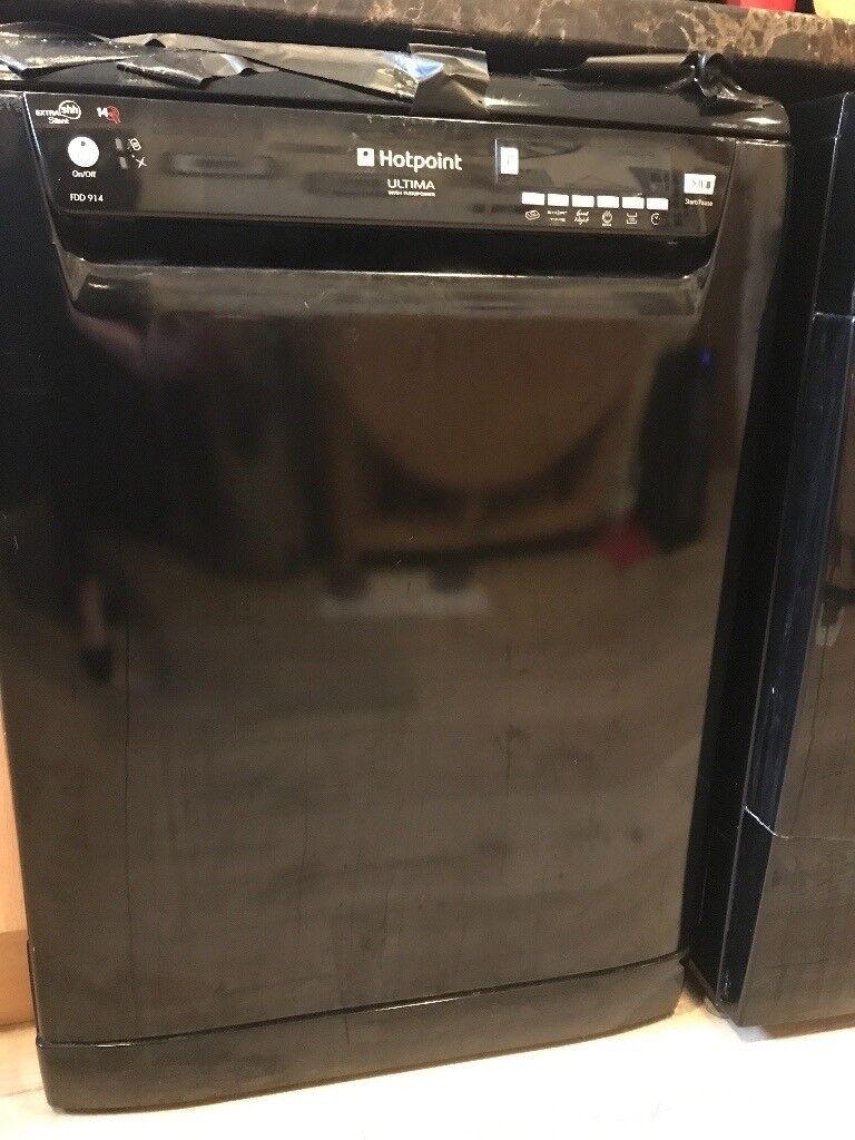 Dishwasher - black hotpoint