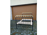 Antique cast iron and brass bed victorian / french double