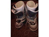 Girls size 6 Burton snowboard boots