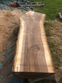 Local sawn wooden boards timber oak walnut yew pine